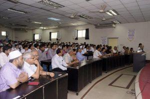 Attendees at the 23 May event at Kumudini Hospital, Bangladesh.