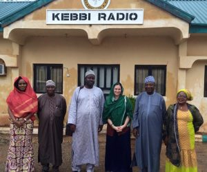 EngenderHealth staff at the Kebbi Radio station in Kebbi State, Nigeria.